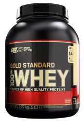 Протеин Optimum Nutrition 100 % Whey protein Gold standard 5 lb Двойной шоколад (2270 г)